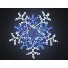 """Фигура световая """"Снежинка"""" цвет белая/синяя, размер 60*60 см, с контролером"""