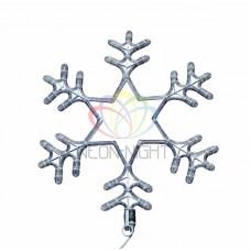 """Фигура световая """"Снежинка"""" цвет белый, размер 55 см, мигающая (2В с контроллером)"""