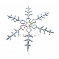 """Фигура световая """"Снежинка"""" цвет белый, размер 95 см, мигающая (2В с контроллером)"""
