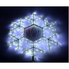 """Фигура световая """"Снежинка LED"""" цвет белый, размер 45*38 см"""