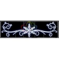 """Фигура световая """"Снежинка с кружевами"""" размер 420х120см"""