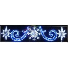 """Фигура световая """"Снежинка со звездами"""" размер 500х120см"""