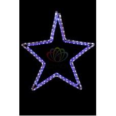 """Фигура световая """"Звезда"""" цвет белая/синяя, размер 56 х 60 см"""