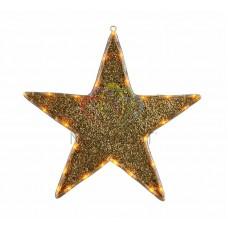 """Фигура """"Звезда"""" бархатная, с постоянным свечением, размеры 45 см (27 ЖЕЛТЫХ светодиодов)"""