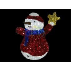 """Фигура """"Снеговик со звездой"""", LED подсветка выс.150см (+транс.)"""