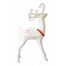 """Синтетическая 3D фигура """"Олень с красной лентой """", 122 см, 98 светодиодов"""
