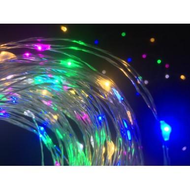 Роса светодиодная, 10 метров, мульти