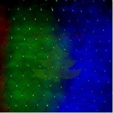 """Гирлянда """"Сеть"""" 1х1,5м, черный ПВХ, 160 LED Мультиколор, 230В"""