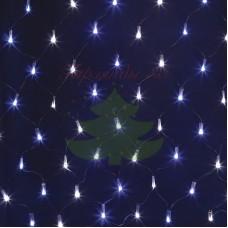 """Гирлянда """"Сеть"""" 2х0,7м, черный ПВХ, 176 LED Белые/Синие, 230В"""