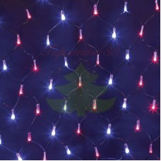 """Гирлянда """"Сеть"""" 2х0,7м, черный ПВХ, 176 LED Красные/Синие, 230В"""