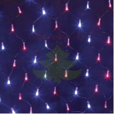 """Гирлянда """"Сеть"""" 2,5х2,5м, черный ПВХ, 432 LED Красные/Синие, 230В"""