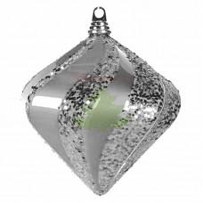 "Елочная фигура ""Алмаз"", 15 см, цвет серебро"