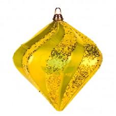 """Елочная фигура """"Алмаз"""", 15 см, цвет золотой"""