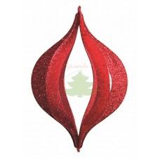 """Елочная фигура """"Сосулька складная 3D"""", 51 см, цвет красный"""