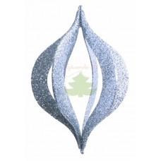"""Елочная фигура """"Сосулька складная 3D"""", 51 см, цвет серебряный"""
