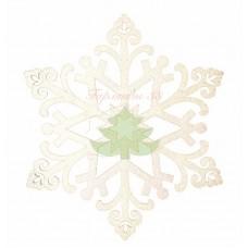 """Елочная фигура """"Снежинка """"Снегурочка"""", 81 см, цвет шампань"""