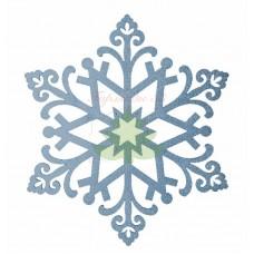 """Елочная фигура """"Снежинка """"Снегурочка"""", 81 см, цвет голубой"""