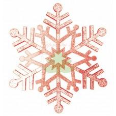 """Елочная фигура """"Снежинка резная"""", 81 см, цвет красный"""