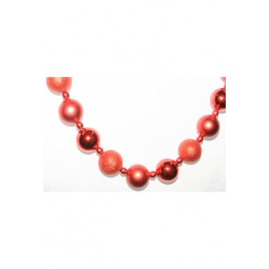 Гирлянда из красных шаров 50 мм, 16 мм