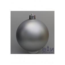Набор шаров 10см, серебро матовый