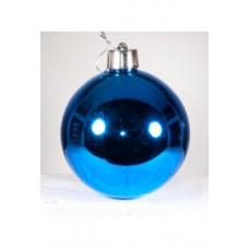 Набор шаров 10см, синий, глянец