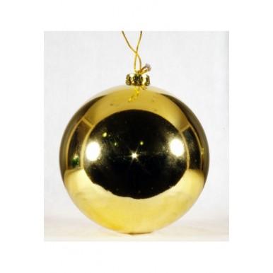 Набор шаров 10см, золото, глянец