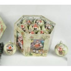 Набор шаров 75мм/7шт, глянец, матовый с рисунками